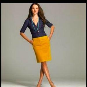 J Crew Curdory pencil skirt size 8